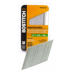 Stanley Bostitch - FN1540 - Angled Finish Nail, 15ga, 2-1/2 In, PK3655