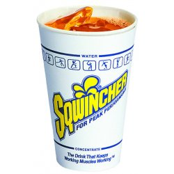 Sqwincher - 200101 - 12 oz. Disposable Cup, Waxed Paper, White, PK 100