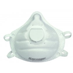 Sperian Protection - 14110445 - Molded Nose Bridge, One-Fit Molded Cup, N95 Valved, 10/Pkg