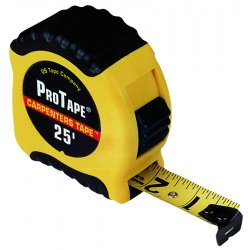 "U.S. Tape - 52712 - 3/4"" X 12' Carpenter's Pro Tape W/rubber Boot"