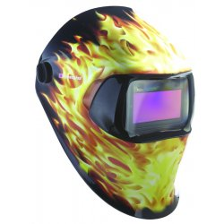 3M - 07-0012-31BZ - Auto Darkening Welding Helmet, Black/Orange/Yellow, Speedglas 100, 8 to 12 Lens Shade