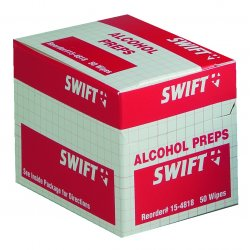 Swift First-Aid - 154818 - Alcohol Wipes 50/bx