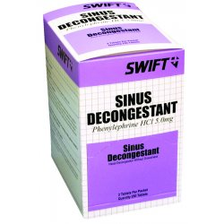 Swift First-Aid - 2106250 - Sinus Decongestant 250/bx