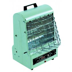 TPI - 198TMC - TPI Corporation 198 TMC 120 V 5 - 12.5 A 600/900/1500 W 1 Phase 5120 BTU Portable Radiant/Fan Forced Heater With Dual Safety System And 6' Type 3 Conductor Cord