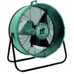 "TPI - MB30-DF - TPI MB 30-DF Floor Fan - 30"" Diameter - 2 Speed - Corrosion Resistant, Dent Resistant - 38.5"" Height x 37.5"" Width x 14.5"" Depth - Plastic Housing, Aluminum Blade"