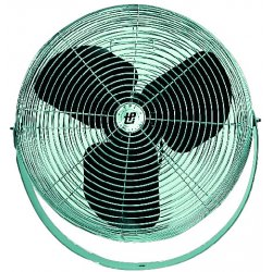 "TPI - U-12-TE - TPI U-12-TE Wall Mount Fan - 12"" Diameter - 3 Speed - 360° Swivel - 12"" Height x 12"" Width - Aluminum Blade, Steel - Chrome"