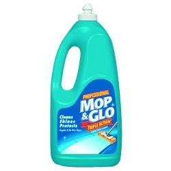 Reckitt Benckiser - 74297 - Mop & Glo One Step Cleaner - 64 oz (4 lb) - Lemon ScentBottle - 1 Each - Tan