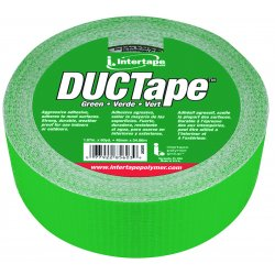 "Intertape Polymer - 20C-GR2 - ipg Duct Tape - 1.87"" Width x 60 yd Length - Cloth Backing - Durable, Self-adhesive - Green"