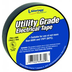 "Intertape Polymer - 602 - Ut-602 3/4""x60' 7-mil Electrical Tape Black-"
