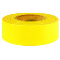 "Intertape Polymer - 6889 - 800-yg 1-3/16""x 50yd Yellow Glow Flagging Ribbon"