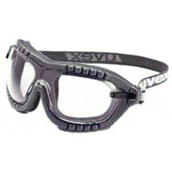 Honeywell - S1890X - Uvex by Honeywell Fury Dust Goggles With Black Flame Resistant Soft Frame, Clear Uvextreme Anti-Fog Lens And Fabric Headband