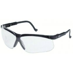 Honeywell - S3260 - Uvex By Honeywell Genesis Safety Glasses With Patriot Red, White And Blue Polycarbonate Frame And Clear Polycarbonate Ultra-dura Anti-Scratch Hard Coat Lens