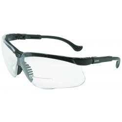 Uvex / Sperian - S3760 - Genesis Magnifier Safety Glasses with Black Frame & Clear Lens, Magnification +1.0