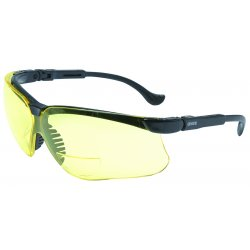Uvex / Sperian - S3762 - Genesis© Magnifier Safety Glasses with Black Frame & Clear Lens, Magnification +2.0