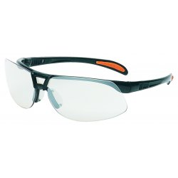 Uvex / Sperian - S4202 - Protege© Safety Glasses Black Frame with Mirror Indoor/Outdoor Anti-Scratch Lens (MOQ=10)