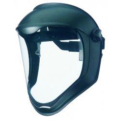 Uvex / Sperian - 763-S8510 - Bionic© Face Shield with Black Matte & ClearPolycarbonate Anti-Fog Hardcoat Lens