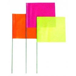 """Presco - 4530W - 4""""x5"""" White Flag With 30"""" Wire Staff"""