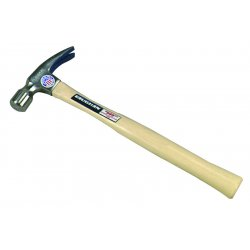 "Vaughan - 999L - Vaughan 20 OZ Smooth Face Rip Hammer 16"" Handle - High Carbon Steel, Hickory - Comfortable Grip"