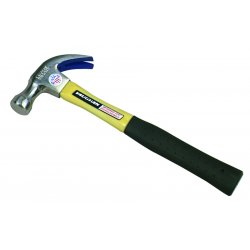 "Vaughan - FS20 - Vaughan 20 OZ Fiberglass Nail Hammer - 14"" Length - Fiberglass, Polyvinyl Chloride (PVC), High Carbon Steel - 1.81 lb - Non-slip Grip, Shock Absorbing Handle, Contoured Grip, Comfortable Grip, Cushion Grip - 1 Each"