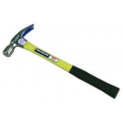 "Vaughan - FS999 - Vaughan 20 OZ Smooth Face Fiberglass Rip Hammer - 14"" Length - Fiberglass, Hickory - Shock Absorbing Handle, Non-slip Grip, Comfortable Grip"