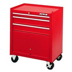 Waterloo - ML-300 - Cabinet Rolling 3 Drawer Waterloo Industries Shop Series 31.90 In Hx26.5 In Wx18 In D Steel Red, EA