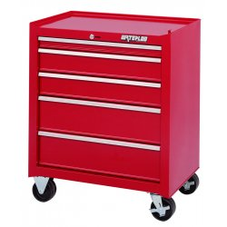 Waterloo - ML-500 - Cabinet Rolling 5 Drawer Waterloo Industries Shop Series 31.9 In Hx26.5 In Wx18 In D Steel Red, EA
