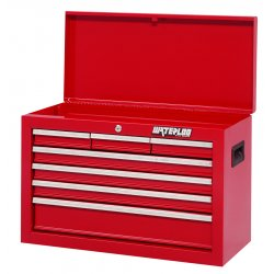 Waterloo - ML-777 - Chest Top 7 Drawer Waterloo Industries Shop Series 17.47 In Hx26.06 In Wx12 In D Steel Red, EA