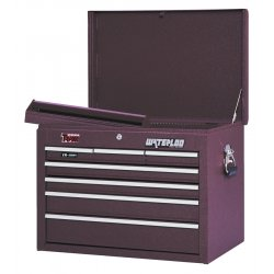 Waterloo - TR61206 - Top Chest 6 Drawer Waterloo 19.76 In Hx26.09 In Wx12.08 In D Steel Red, EA