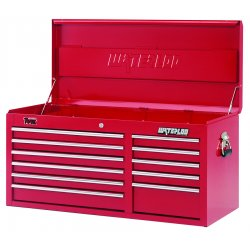 Waterloo - TRX4111 - Top Chest 11 Drawer Waterloo Traxx 19.9 In Hx40.5 In Wx17.8 In D Steel Red, EA
