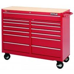 Waterloo - TRX5213 - Rolling Cabinet 13 Drawer Waterloo Traxx 42.50 In Hx51.60 In Wx20 In D Steel Red, EA