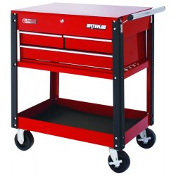 Waterloo - UC310RD - 3-Drawer Metal Utility Carts (Each)