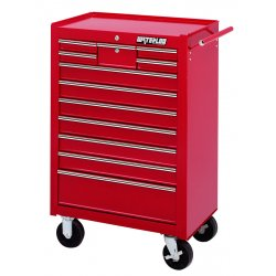 Waterloo - WI-1200 - Tool Cabinet Rolling 12 Drawer Waterloo Industries Pro Series 41.1 In Hx26.5 In Wx18.1 In D Steel Red, EA