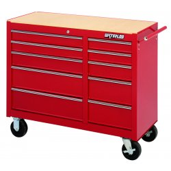 Waterloo - WI-1510 - Tool Chest Pro Series 10 Drawer Cart Waterloo 35 1/2 In. Hx40 3/4 In. W Steel, EA