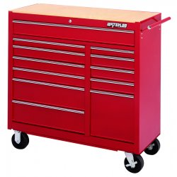 Waterloo - WI-1512 - 12-drawer Pro Series Tool Cart, Ea