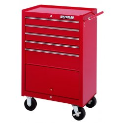 Waterloo - WI-500 - Tool Cabinet Rolling 5 Drawer Waterloo Industries Pro Series 41.1 In Hx26.5 In Wx18.1 In D Steel Red, EA
