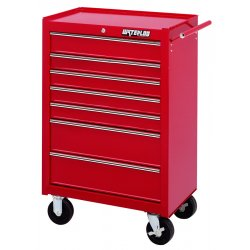 Waterloo - WI-700 - Tool Cabinet Rolling 7 Drawer Waterloo Industries Pro Series 41.1 In Hx26.5 In Wx18.1 In D Steel Red, EA