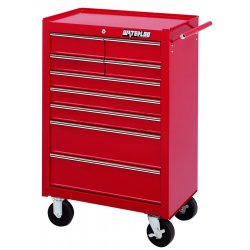 Waterloo - WI-900 - Tool Cabinet Rolling 9 Drawer Waterloo Industries Pro Series 41.1 In Hx26.5 In Wx18.1 In D Steel Red, EA