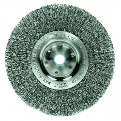 "Weiler - 01035 - Arbor Hole Wire Wheel Brush, Crimped Wire, 6"" Brush Dia."