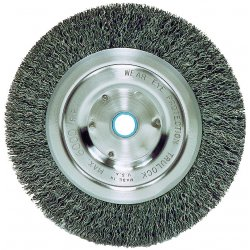 "Weiler - 02335 - Arbor Hole Wire Wheel Brush, Crimped Wire, 7"" Brush Dia."