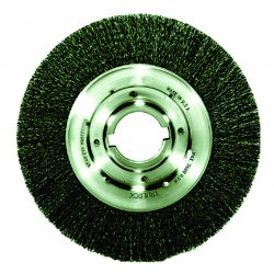 "Weiler - 06080 - Weiler 6"" X 2"" Trulock Carbon Steel Medium Face .0140"" Crimped Wire Wheel Brush For Use On Bench/Pedestal Grinders"