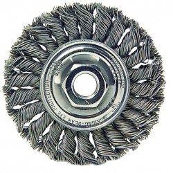 Weiler - 08135 - Arbor Hole Wire Wheel Brush, Twist Wire, 8 Brush Dia.