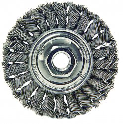 "Weiler - 08294 - Arbor Hole Wire Wheel Brush, Twist Wire, 4"" Brush Dia."