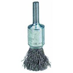 "Weiler - 10022 - 3"" Crimped Wire End Brush with Stainless Steel Fill Material and 0.010"" Wire Dia."