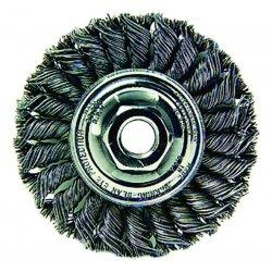 """Weiler - 13114 - Arbor Hole Wire Wheel Brush, Twist Wire, 4"""" Brush Dia."""
