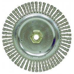 """Weiler - 13131 - Arbor Hole Wire Wheel Brush, Twist Wire, 4"""" Brush Dia."""