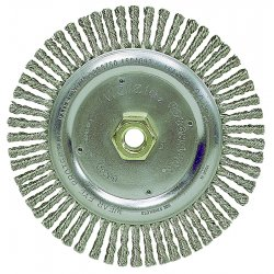 "Weiler - 13138 - Arbor Hole Wire Wheel Brush, Twist Wire, 4"" Brush Dia."