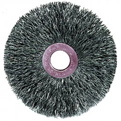 Weiler - 15533 - Arbor Hole Wire Wheel Brush, Crimped Wire, 3 Brush Dia.