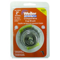 Weiler - 36229 - Vortec Pro Stem Mounted Crimped Wire Cup Brushes (Case of 10)