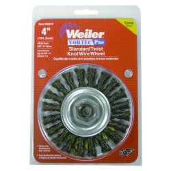 Weiler - 36279 - Arbor Hole Wire Wheel Brush, Twist Wire, 8 Brush Dia.