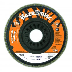 Weiler - 50003 - Arbor Mount Flap Disc, 4-1/2in, 60, Coarse